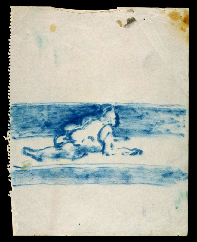 Francis Bacon (British, born Ireland, 1909-1992) 'Blue Crawling Figure, No. 1' c. 1957-1961
