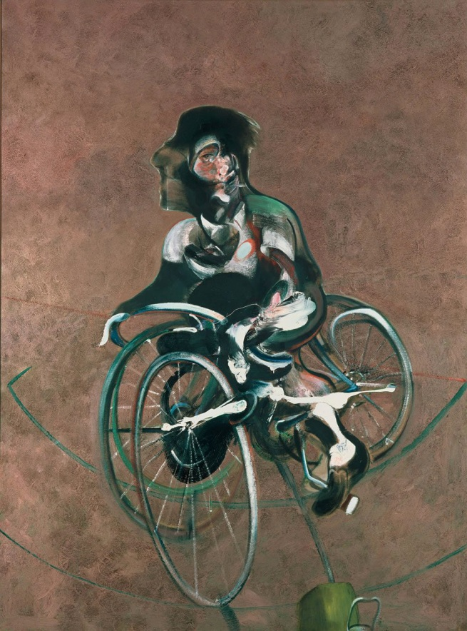 Francis Bacon (British, born Ireland, 1909-1992) 'Portrait of George Dyer Riding a Bicycle' 1966