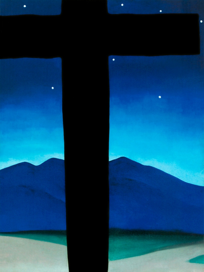 Georgia O'Keeffe (1887-1986) 'Black Cross with Stars and Blue' 1929