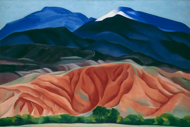 Georgia O'Keeffe (1887-1986) 'Black Mesa Landscape, New Mexico / Out Back of Marie's II' 1930