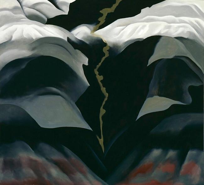 Georgia O'Keeffe (1887-1986) 'Black Place III' 1944