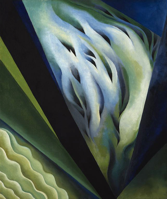 Georgia O'Keeffe (1887-1986) 'Blue and Green Music' 1921