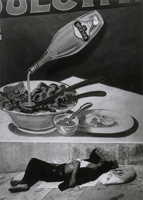 Brassaï (French (born Romania), Brașov 1899-1984 Côte d'Azur) 'A Vagrant Sleeping in Marseille' 1935, printed 1940s