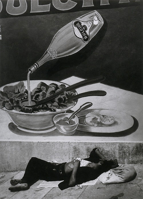 Brassaï (French (born Romania), Brașov 1899-1984 Côte d'Azur) 'A Vagrant Sleeping in Marseille' 1935, printed 1940s