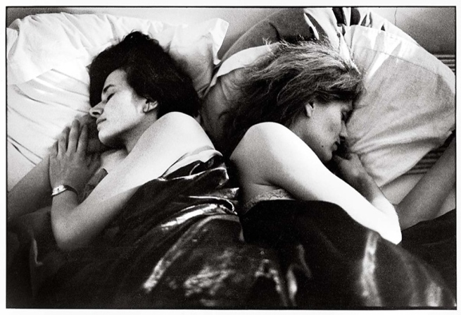 Sophie Calle (French, born Paris, 1953) 'Gloria K., first sleeper. Anne B., second sleeper' 1979