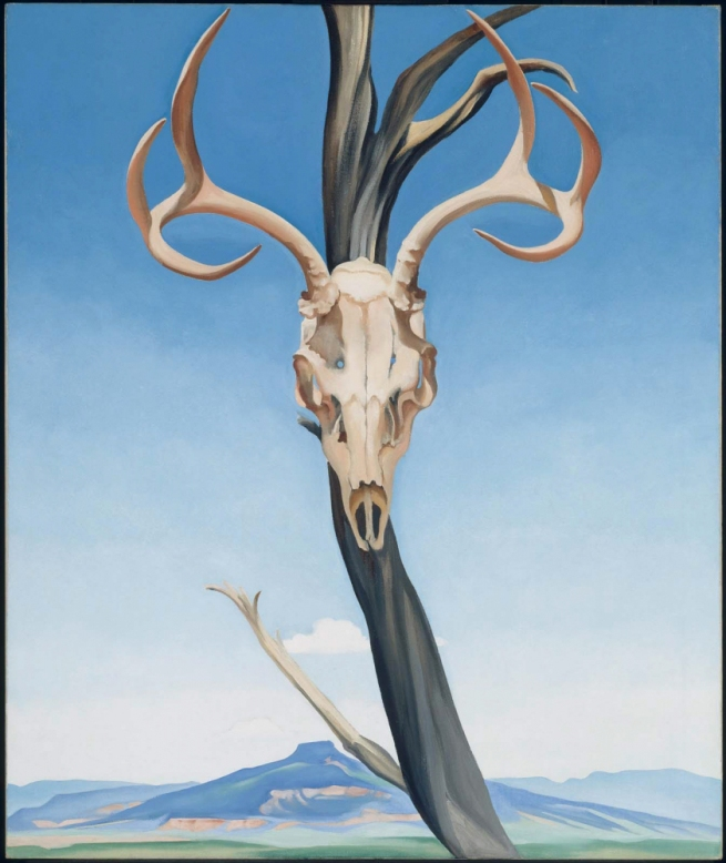 Georgia O'Keeffe (1887-1986) 'Deer's Skull with Pedernal' 1936