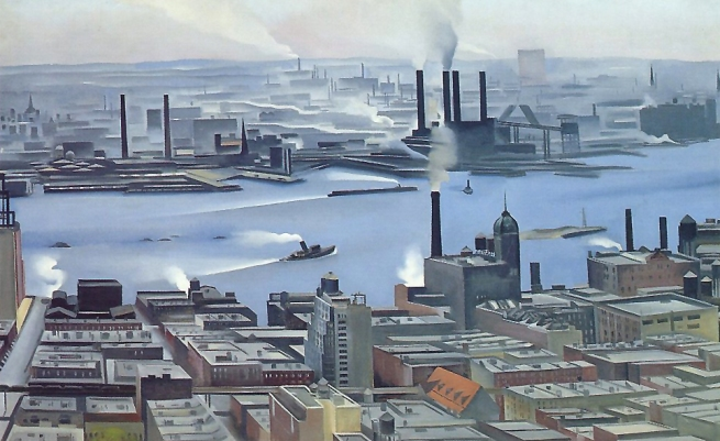 Georgia O'Keeffe (1887-1986)'East River from the 30th Story of the Shelton Hotel' 1928