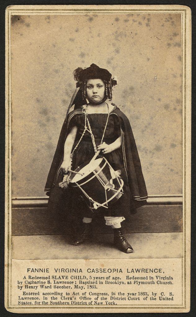 J. W. Black (American, photographer) 'Captioned carte de visite of Fannie Virginia Casseopia Lawrence' 1863