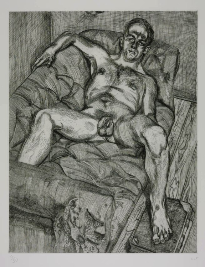 Lucian Freud (British, born Germany, 1922-2011) 'Man Posing' 1985