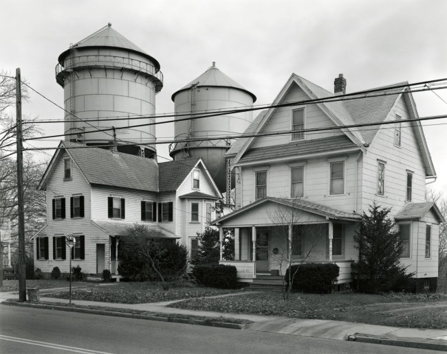 George Tice. 'Houses and Water Towers, Moorestown, NJ, 1973' 1973