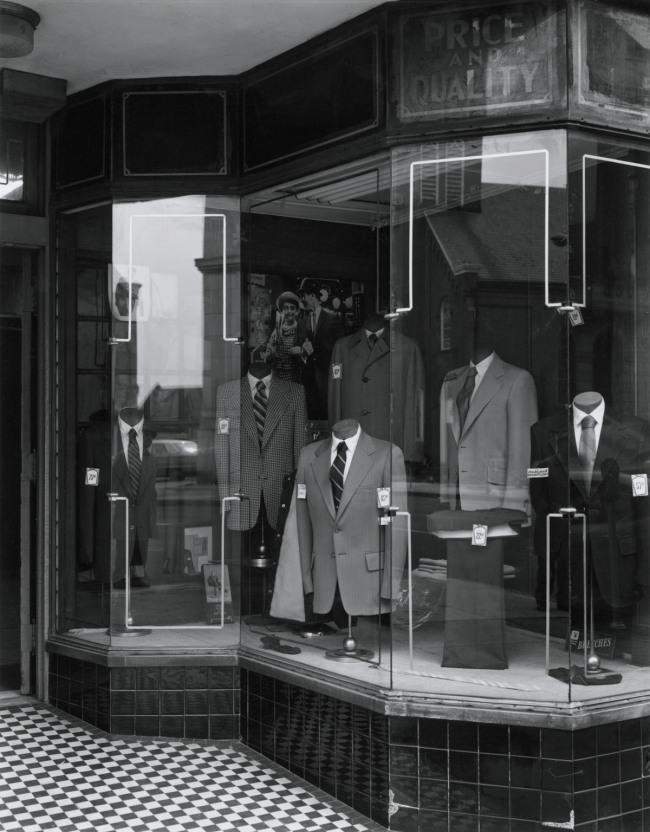 George Tice. 'Jahos Brothers Clothing Store, Trenton, NJ, 1973' 1973