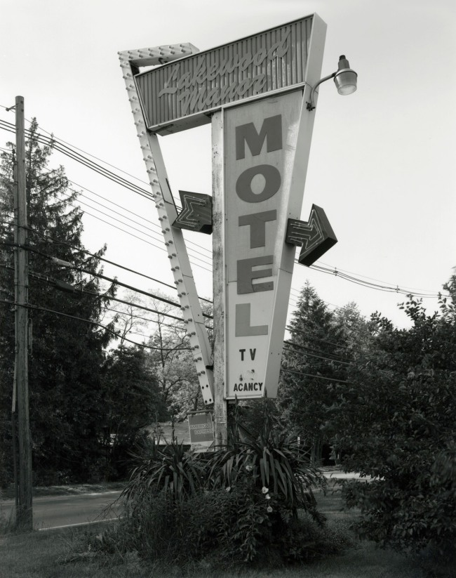George Tice. 'Lakewood Manor Motel, Lakewood, NJ, 1998' 1998