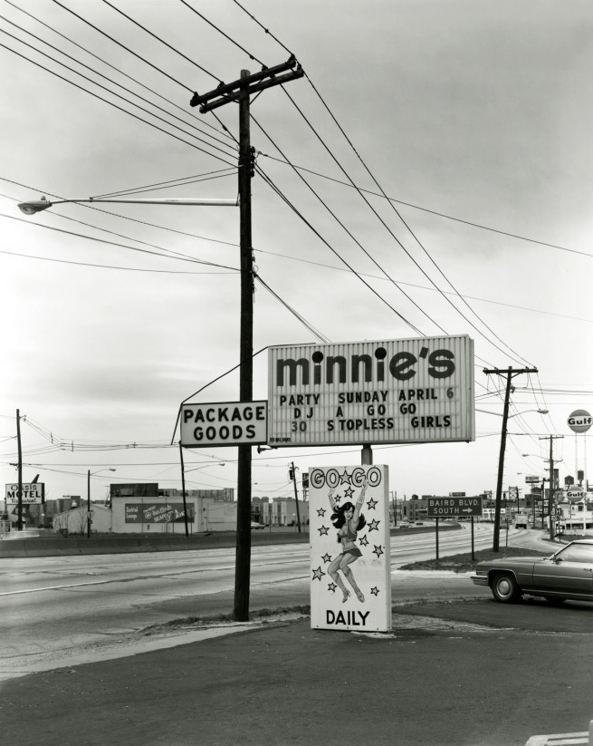 George Tice. 'Minnie's Go-Go, Route 130, Merchantville, 1975' 1975