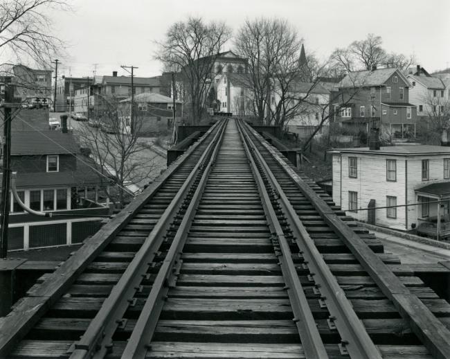 George Tice. 'Railroad Bridge, High Bridge, NJ, 1974' 1974