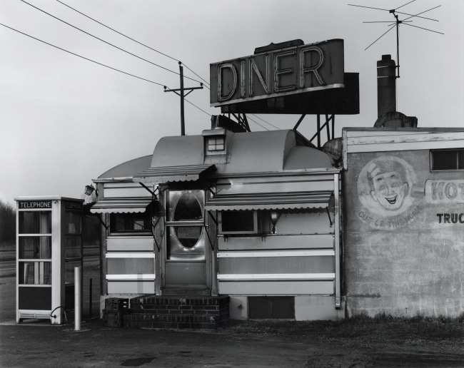 George Tice. 'Steve's Diner, Route 130, North Brunswick, 1974' 1974