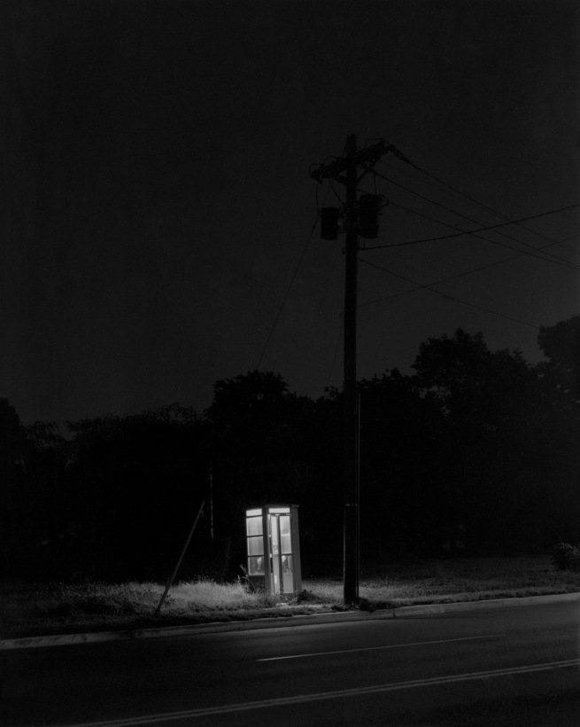 George Tice. 'Telephone Booth, 3 am, Railway, NJ, 1974' 1974