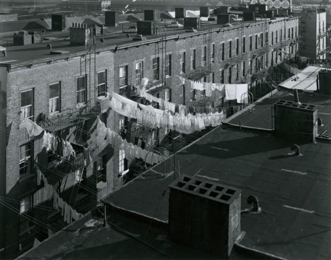 George Tice. 'Tenement Rooftops, Hoboken, NJ, 1974' 1974