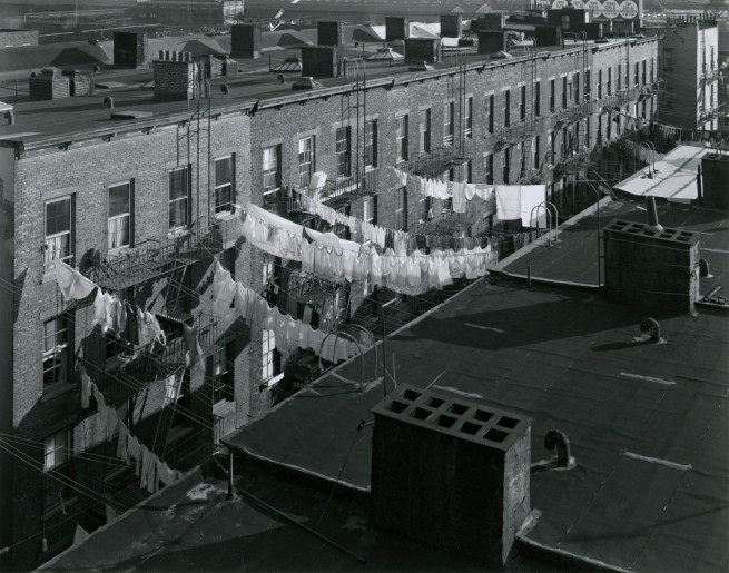 George Tice. 'Tenement Rooftops, Hoboken, NJ, 1974' 1974