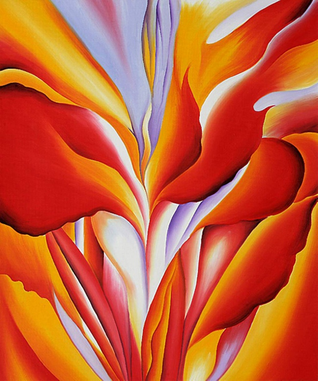 Georgia O'Keeffe (1887-1986) 'Red Canna' 1924