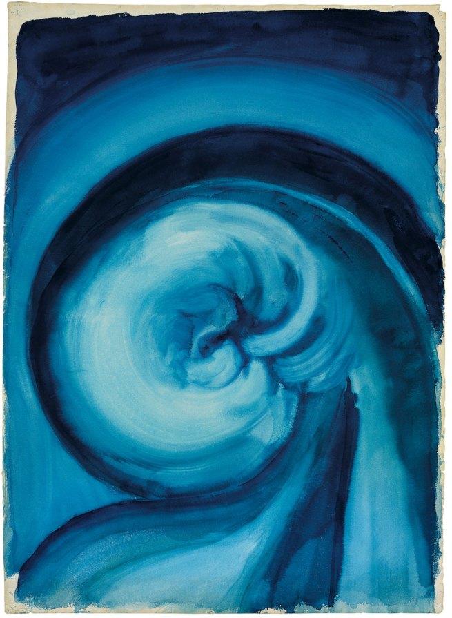 Georgia O'Keeffe (1887-1986) 'Blue I' 1916