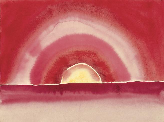 Georgia O'Keeffe (1887-1986) 'Sunrise' 1916