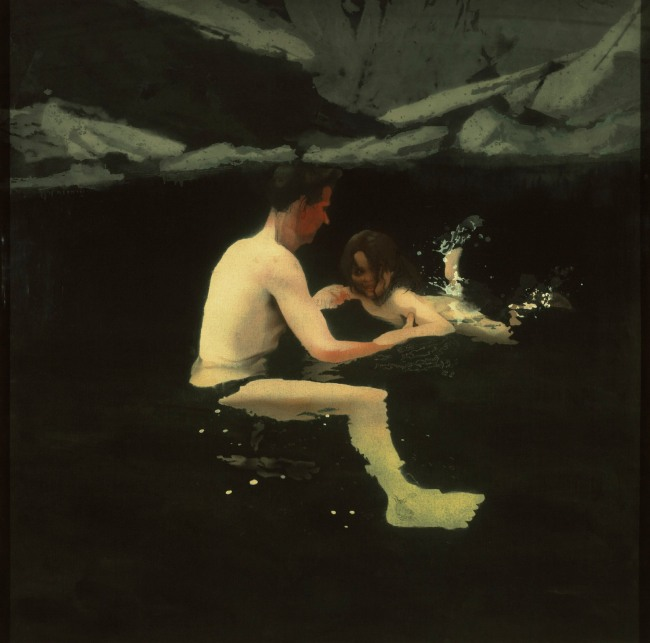 Michael Andrews (1928-1995) 'Melanie and Me Swimming' 1978-1979