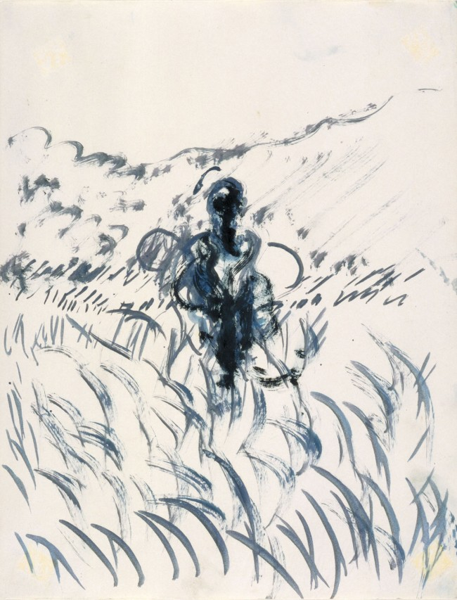 Francis Bacon (British, born Ireland, 1909-1992) 'Figure in a Landscape' c. 1952