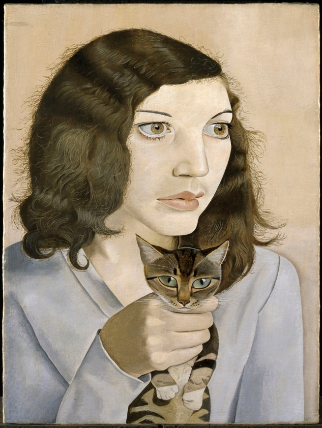 Lucian Freud (British, born Germany, 1922-2011) 'Girl with a Kitten' 1947