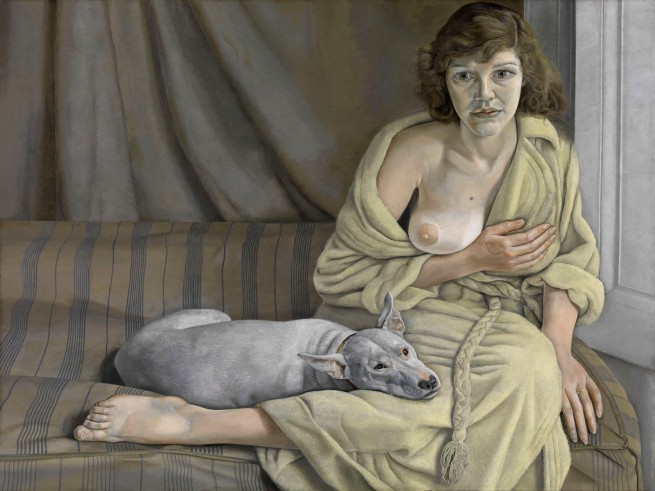 Lucian Freud (British, born Germany, 1922-2011) 'Girl with a White Dog' 1950-1951