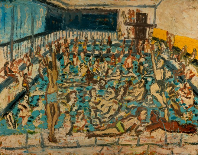 Leon Kossoff (born 1926) 'Children's Swimming Pool, Autumn Afternoon' 1971