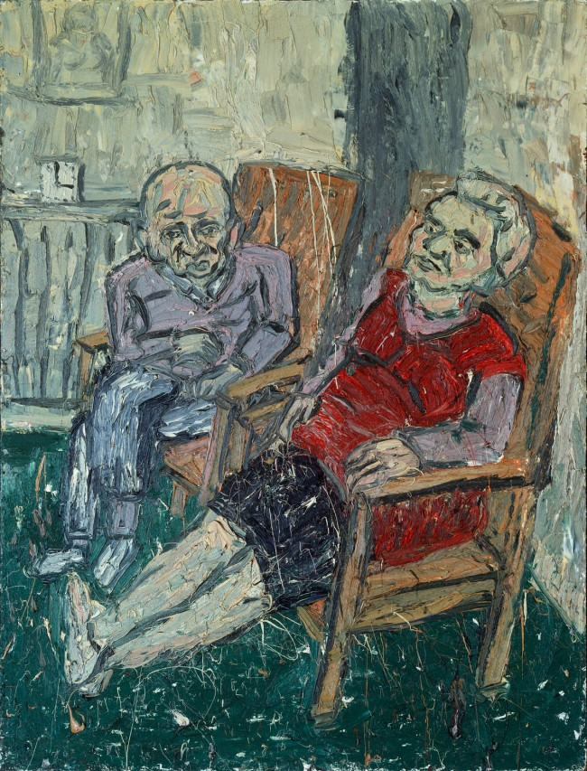 Leon Kossoff (born 1926) 'Two Seated Figures No. 2' 1980