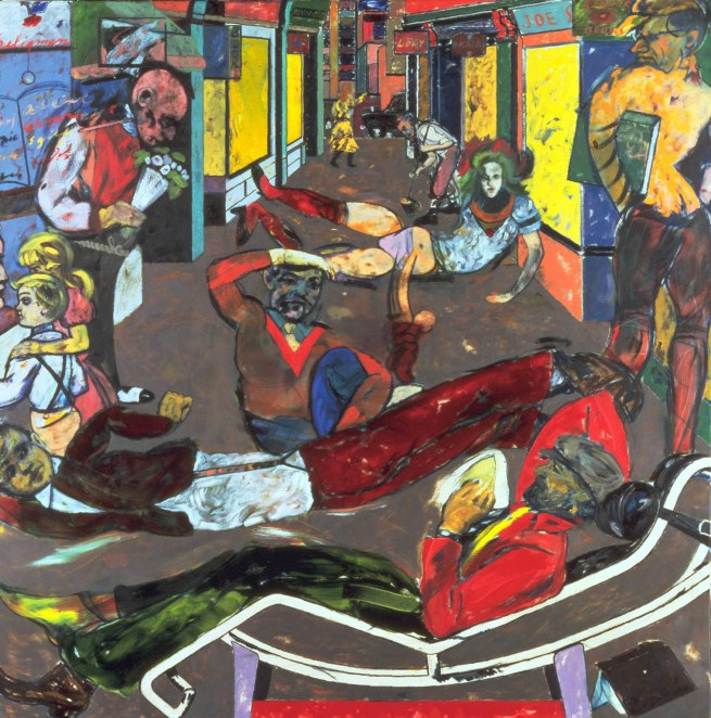 R. B. Kitaj (1932-2007) 'Cecil Court, London W. C. 2. (The Refugees)' 1983-1984