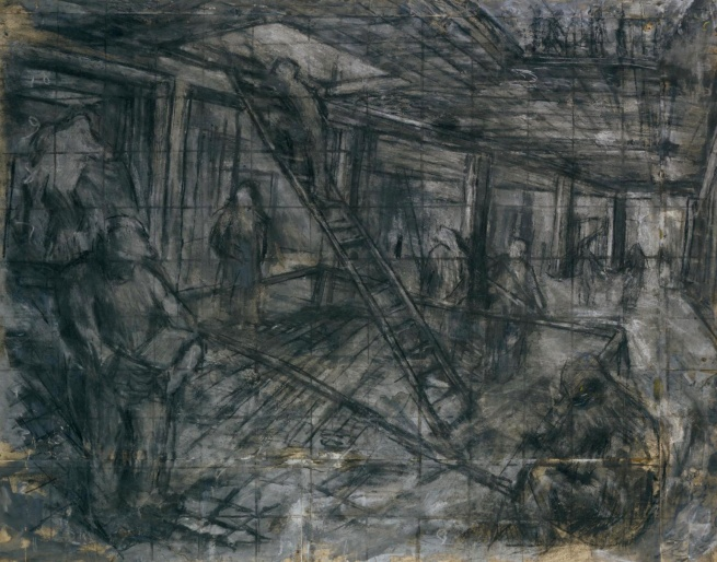 Leon Kossoff (born 1926) 'Building Site, Oxford Street' 1952