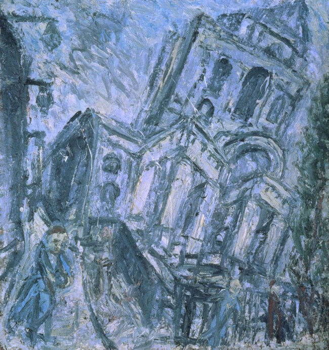 Leon Kossoff (born 1926) 'Christ Church, Spitalfields, Morning' 1990