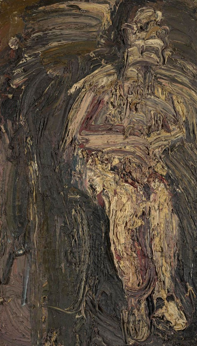 Leon Kossoff (born 1926) 'Man in a Wheelchair' 1959-1962