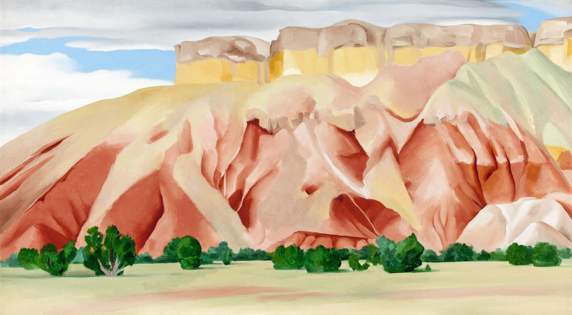 Georgia O/'Keeffe Vtg Art Print LOT 2X  Orange Yellow Pelvis /& From the Plains