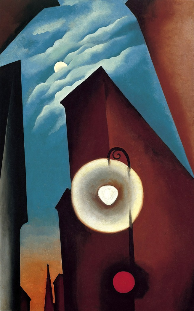 Georgia O'Keeffe (1887-1986) 'New York Street with Moon' 1925