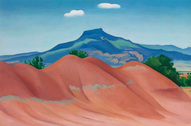 Georgia O'Keeffe (1887-1986) 'Pedernal with Red Hills (Red Hills with the Pedernal)' 1936