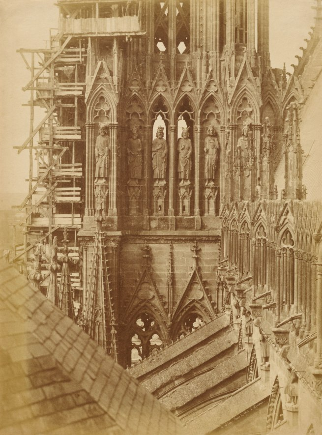 Henri Le Secq (French, 1818-1882) 'Tower of the Kings at Reims Cathedral' Negative, 1851-53; print, 1853