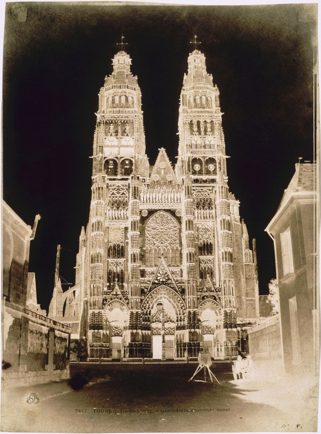 Gustave Le Gray (French, 1820-1884) Auguste Mestral (French, 1812-1884) 'West Facade of the Cathedral of Saint-Gatien, Tours' 1851