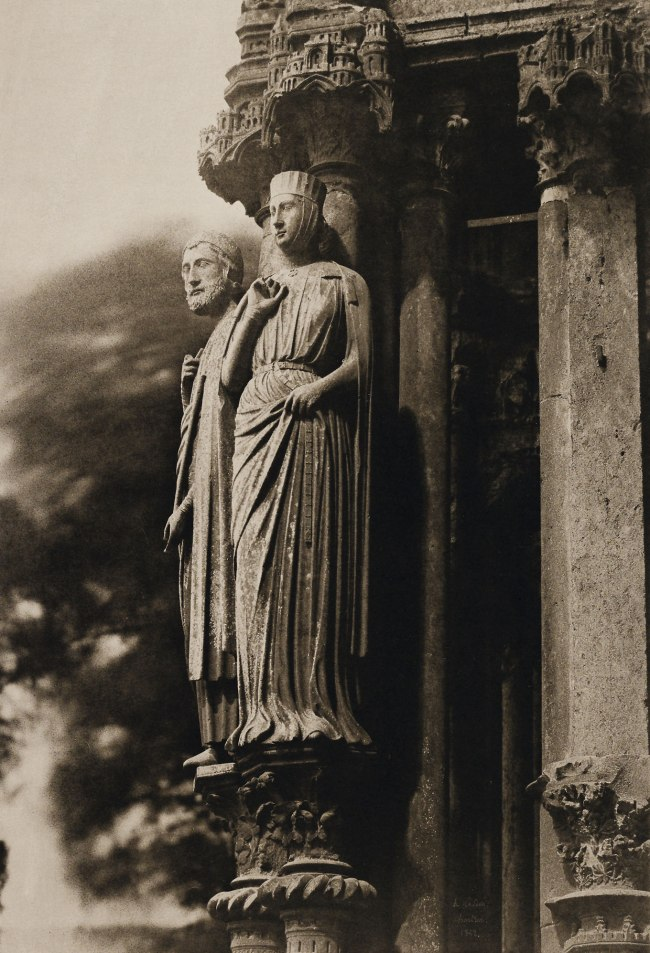 Henri Le Secq (French, 1818-1882) 'North Transept, Chartres Cathedral' Negative 1852; print 1870s