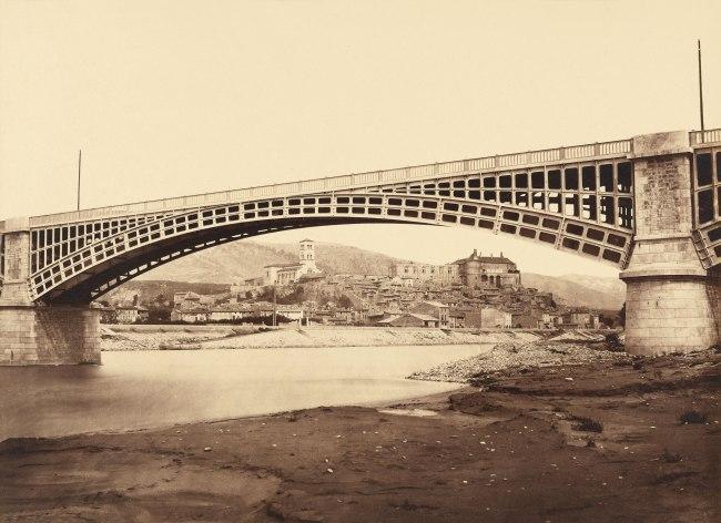 Édouard Baldus (French, born Germany, 1813-1889) 'Viaduct, La Voulte-sur-Rhône' c. 1861