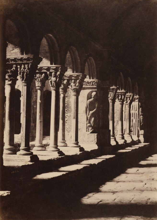 Charles Nègre (French, 1820-1880) 'Aisle of the Cloister of Saint-Trophime, Arles' c. 1852