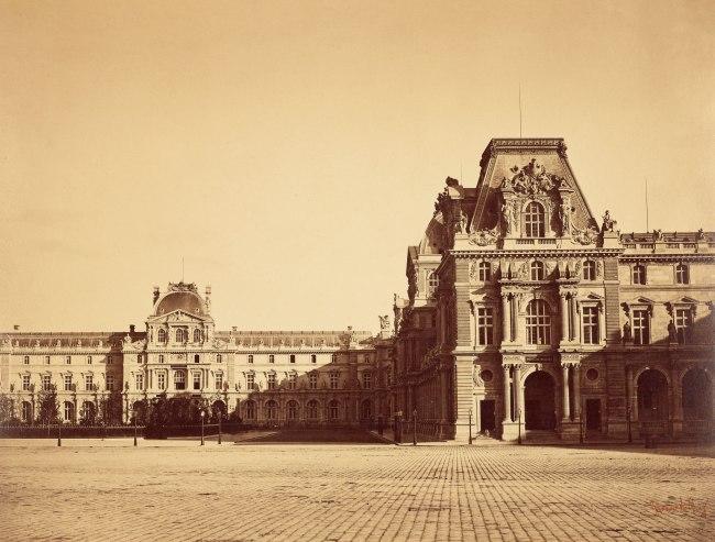 Gustave Le Gray (French, 1820-1884) 'Pavillon Mollien Pavilion, the Louvre, Paris' 1859