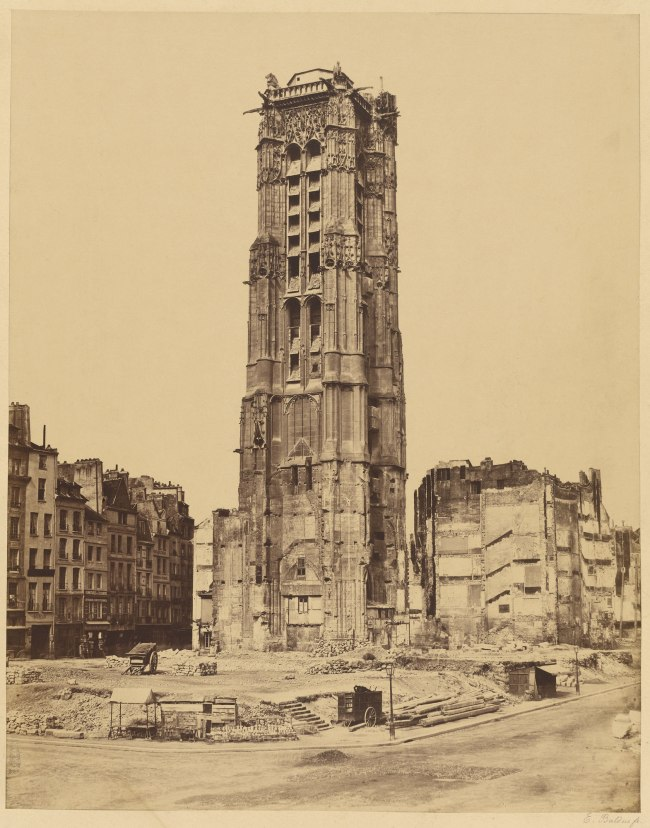 Édouard Baldus (French, born Germany, 1813-1889) 'Tour Saint-Jacques, Paris' 1852-1853