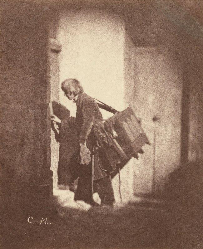 Charles Nègre (French, 1820-1880) 'Organ Grinder at 21, Quai de Bourbon, Paris' c. 1853