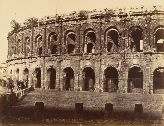 Édouard Baldus (French, born Germany, 1813-1889) 'Amphitheater, Nîmes' 1850s