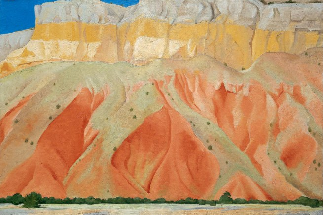 Georgia O'Keeffe (1887-1986) 'Red and Yellow Cliffs' 1940