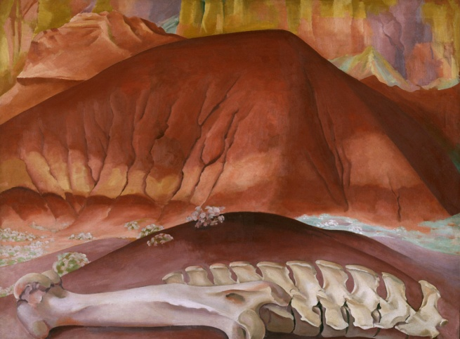 Georgia O'Keeffe (1887-1986) 'Red Hills and Bones' 1941