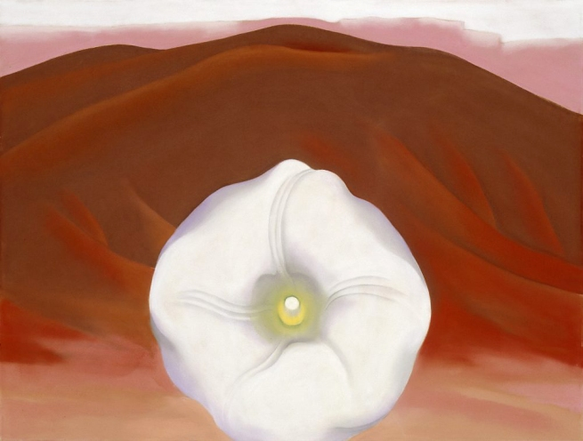 Georgia O'Keeffe (1887-1986) 'Red Hills and White Flower' 1937